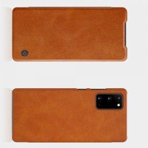 NILLKIN Qin чехол флип кейс для Samsung Galaxy Note 20 - Коричневый