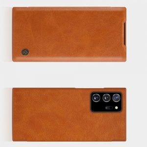 NILLKIN Qin чехол флип кейс для Samsung Galaxy Note 20 Ultra - Коричневый
