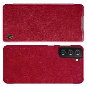 NILLKIN Qin чехол флип кейс для Samsung Galaxy S21 - Красный