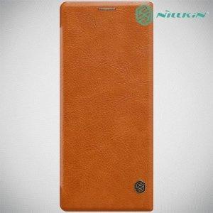 NILLKIN Qin чехол флип кейс для Sony Xperia 10 Plus - Коричневый