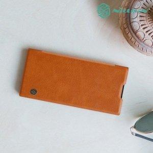 NILLKIN Qin чехол флип кейс для Sony Xperia XA2 Plus - Коричневый