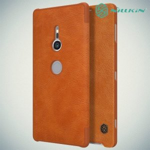 NILLKIN Qin чехол флип кейс для Sony Xperia XZ2 - Коричневый
