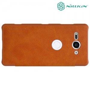 NILLKIN Qin чехол флип кейс для Sony Xperia XZ2 Compact - Коричневый