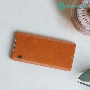 NILLKIN Qin чехол флип кейс для Sony Xperia XZ3 - Коричневый