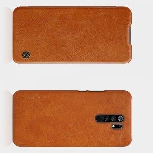 NILLKIN Qin чехол флип кейс для Xiaomi Redmi 9 - Коричневый