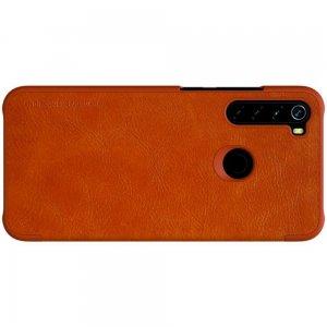 NILLKIN Qin чехол флип кейс для Xiaomi Redmi Note 8 - Коричневый