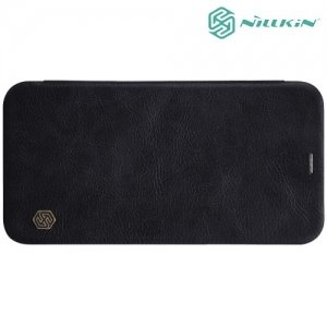 Nillkin Qin Series чехол книжка для iPhone Xs / X - Черный