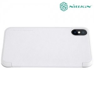 Nillkin Qin Series чехол книжка для iPhone Xs / X - Белый