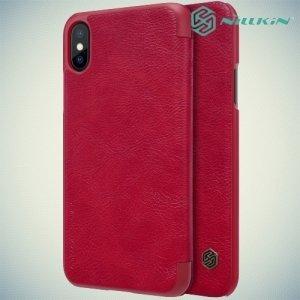 Nillkin Qin Series чехол книжка для iPhone Xs / iPhone X - Красный