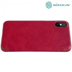 Nillkin Qin Series чехол книжка для iPhone Xs / X - Красный