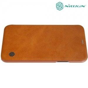 Nillkin Qin Series чехол книжка для iPhone Xs / X - Коричневый