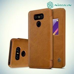 Nillkin Qin Series чехол книжка для LG G6 H870DS - Коричневый