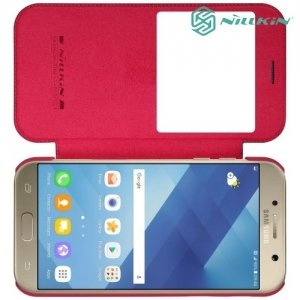 Nillkin Qin Series чехол книжка для Samsung Galaxy A7 2017 SM-A720F - Красный