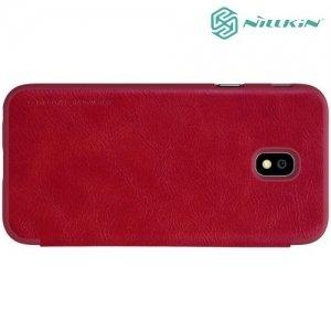 Nillkin Qin Series чехол книжка для Samsung Galaxy J3 2017 SM-J330F - Красный