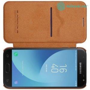 Nillkin Qin Series чехол книжка для Samsung Galaxy J3 2017 SM-J330F - Коричневый