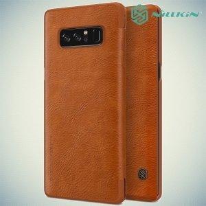 Nillkin Qin Series чехол книжка для Samsung Galaxy Note 8 - Коричневый