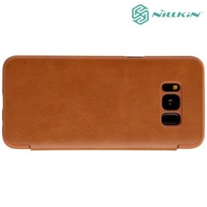 Nillkin Qin Series чехол книжка для Samsung Galaxy S8 - Коричневый