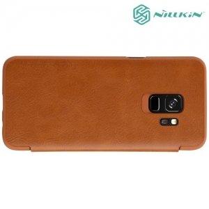 Nillkin Qin Series чехол книжка для Samsung Galaxy S9 - Коричневый