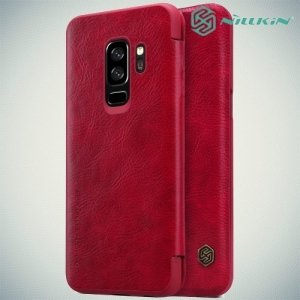 Nillkin Qin Series чехол книжка для Samsung Galaxy S9 Plus - Красный