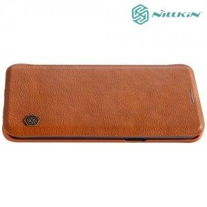 Nillkin Qin Series чехол книжка для Samsung Galaxy S9 Plus - Коричневый