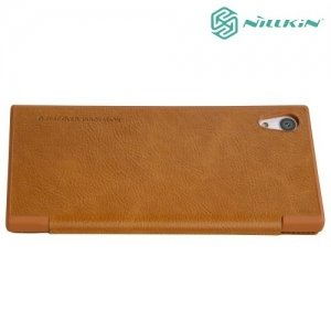 Nillkin Qin Series чехол книжка для Sony Xperia XA1 - Коричневый