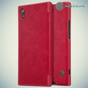 Nillkin Qin Series чехол книжка для Sony Xperia XA1 Plus - Красный