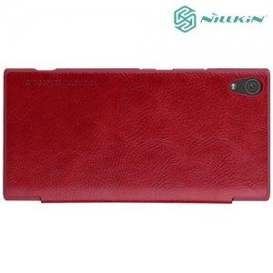 Nillkin Qin Series чехол книжка для Sony Xperia XA1 Ultra - Красный