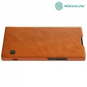 Nillkin Qin Series чехол книжка для Sony Xperia XA2 - Коричневый