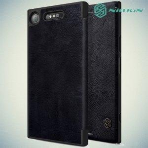 Nillkin Qin Series чехол книжка для Sony Xperia XZ1 - Черный