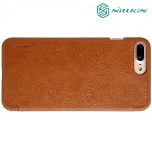 Nillkin Qin Series чехол книжка для iPhone 8 Plus / 7 Plus - Коричневый