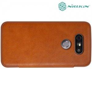 Nillkin Qin Series чехол книжка для LG G5 / G5 SE - Коричневый