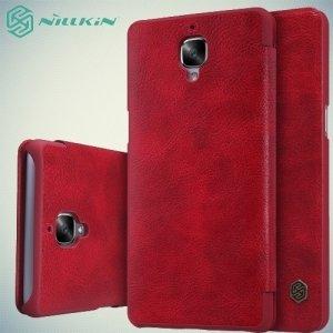 Nillkin Qin Series чехол книжка для OnePlus 3 - Красный
