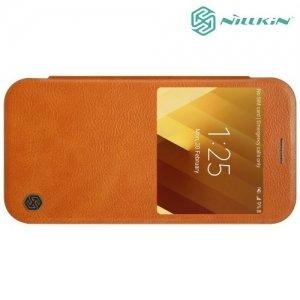 Nillkin Qin Series чехол книжка для Samsung Galaxy A3 2017 SM-A320F - Коричневый