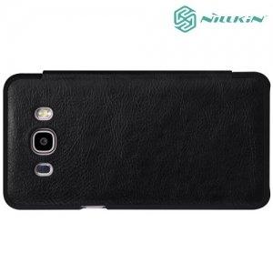 Nillkin Qin Series чехол книжка для Samsung Galaxy J7 2016 SM-J710F - Черный