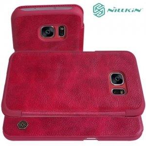 Nillkin Qin Series чехол книжка для Samsung Galaxy S7 - Красный