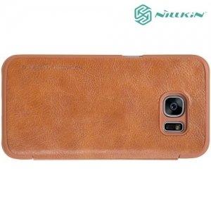 Nillkin Qin Series чехол книжка для Samsung Galaxy S7 - Коричневый