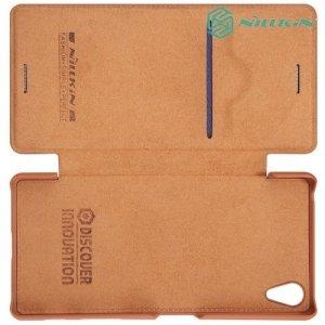 Nillkin Qin Series чехол книжка для Sony Xperia X - Коричневый