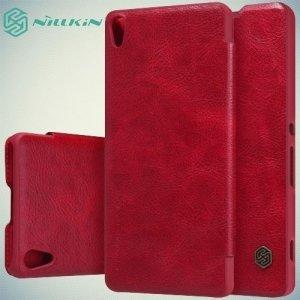 Nillkin Qin Series чехол книжка для Sony Xperia XA - Красный