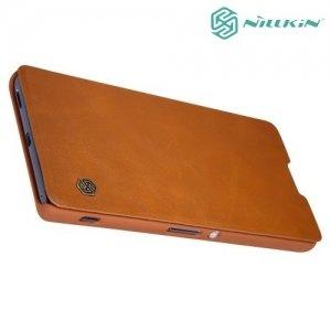 Nillkin Qin Series чехол книжка для Sony Xperia XA Ultra - Коричневый