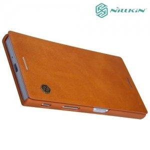 Nillkin Qin Series чехол книжка для Sony Xperia XZ / XZs - Коричневый