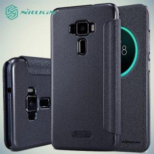 Nillkin с умным окном чехол книжка для Asus Zenfone 3 ZE552KL - Sparkle Case Серый