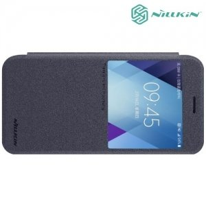 Nillkin с окном чехол книжка для Galaxy A5 2017 SM-A520F - Sparkle Case Серый
