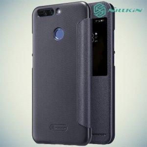 Nillkin с умным окном чехол книжка для Huawei Honor 8 Pro - Sparkle Case Серый