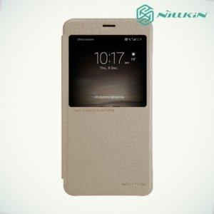 Nillkin с умным окном чехол книжка для Huawei Mate 9 - Sparkle Case Золотой