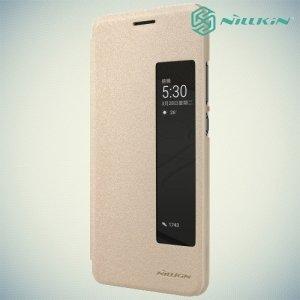 Nillkin с умным окном чехол книжка для Huawei P10 - Sparkle Case Золотой