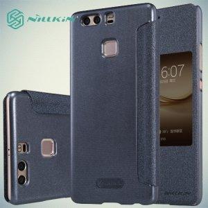 Nillkin с умным окном чехол книжка для Huawei P9 Plus - Sparkle Case Серый
