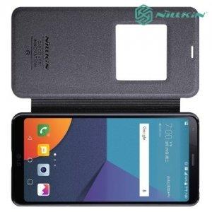 Nillkin с умным окном чехол книжка для LG G6 H870DS - Sparkle Case Серый