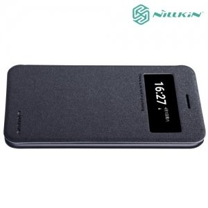Nillkin с умным окном чехол книжка для LG K10 2017 M250 - Sparkle Case Серый