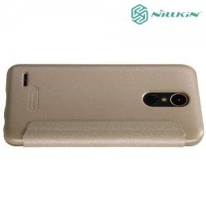 Nillkin с умным окном чехол книжка для LG K10 2017 M250 - Sparkle Case Золотой