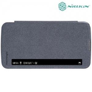 Nillkin с умным окном чехол книжка для LG K10 K410 K430DS - Sparkle Case Серый